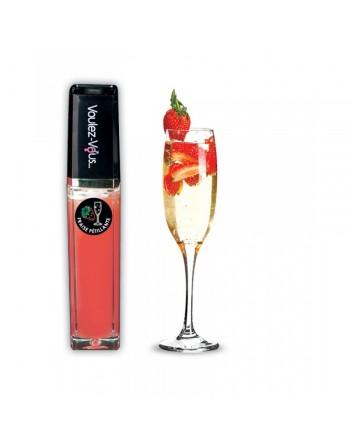 Gloss lumineux à effet chaud froid Vin pétillant fraise - 10 ml