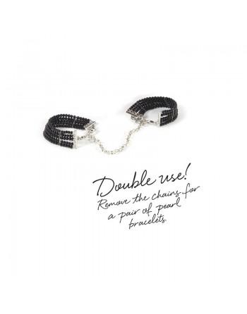 Plaisir Nacre - Menottes Bracelets - Noir