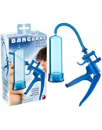 Pompe à Pénis Translucide Bang Bang Bleu