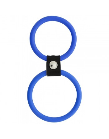 Double Anneau en Silicone Bleu Dual Rings