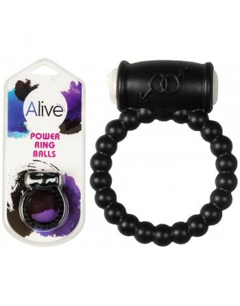 Anneau vibrant Power Ring Balls noir