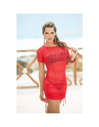 Robe de plage Style 7723 - Rouge
