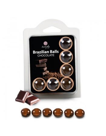6 Brazilian Balls Chocolat 3386-1
