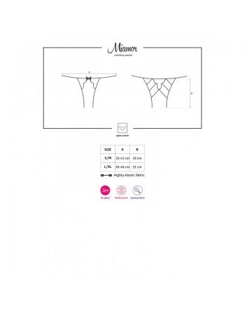 Miamor Culotte ouverte - Noir