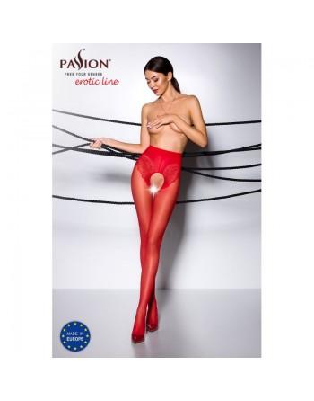 TI006R Collants ouverts 30 DEN - Rouge