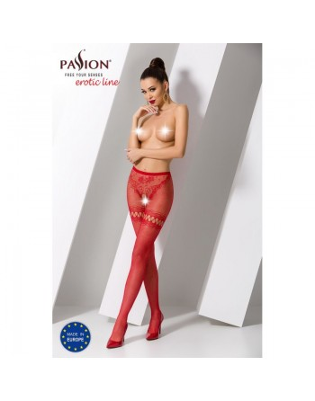S015R Collants ouverts - Rouge